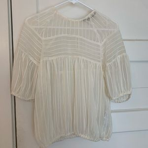 Sheer Zara top